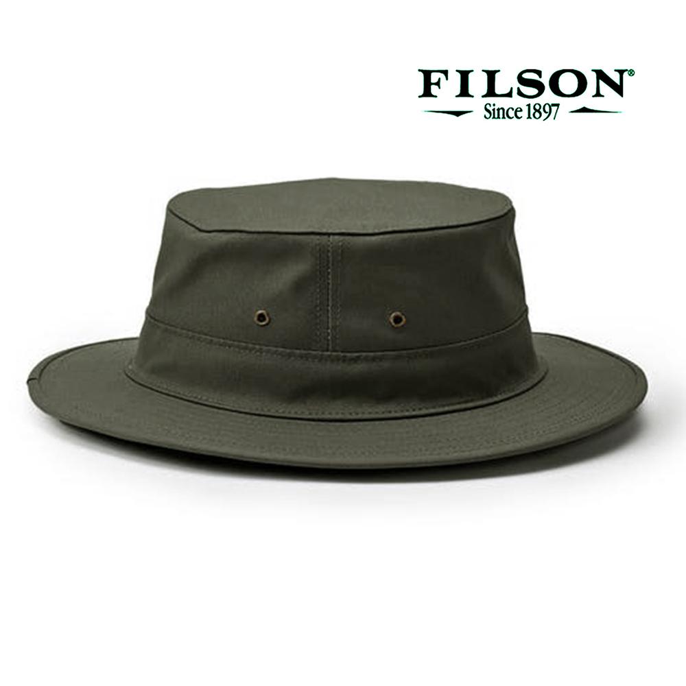 画像1: フィルソン オリジナル ティンクロス ハット イン ドライシェルター(オッターグリーン)/Filson Original Tin Cloth Hat in Dry Shelter(Otter Green)