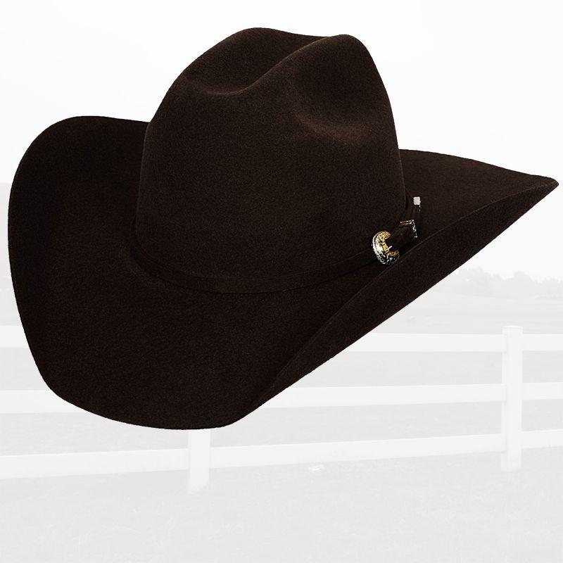 画像1: ブルハイド プレミアムウールフェルトハット(チョコレート)/Bullhide Rodeo Round-Up Wool Felt Hat