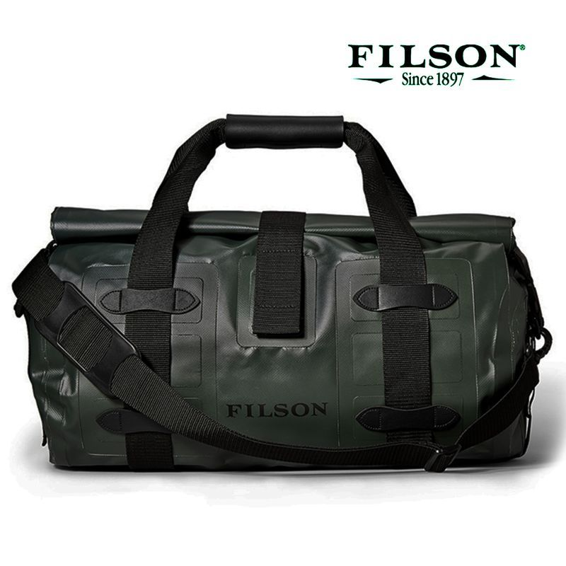 画像1: フィルソン ウォータープルーフ ドライ スモール ダッフルバッグ(グリーン)/Filson Dry Duffle Small(Green)