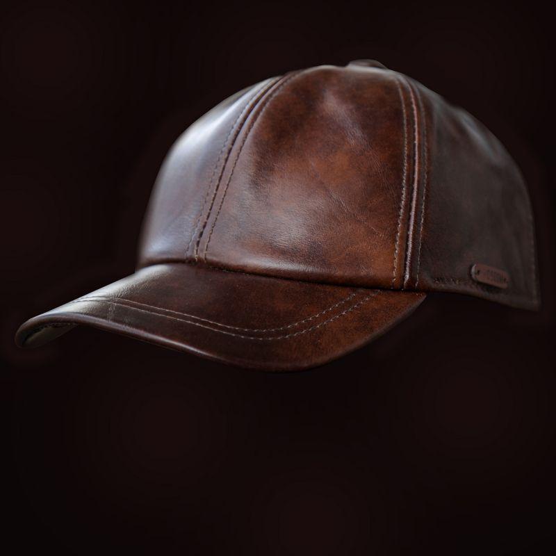 画像1: レザーキャップ(コーヒー)/Leather Cap(Coffee)