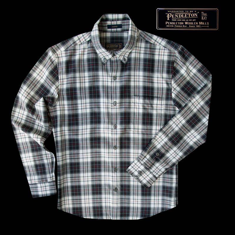 画像1: ペンドルトン トーマス・ケイ ジャスパー ウールシャツ(ブラック・タン)/Pendleton Thomas Kay Jasper Shirt