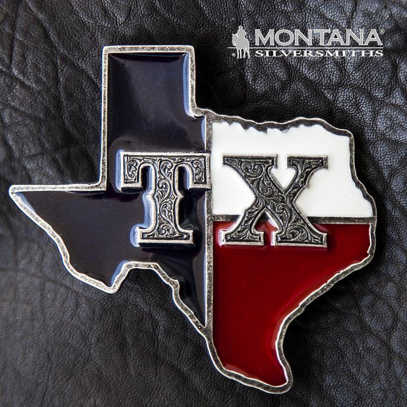 画像1: モンタナシルバースミス ウエスタン ベルト バックル TX ステイト オブ テキサス/Montana Silversmiths Belt Buckle