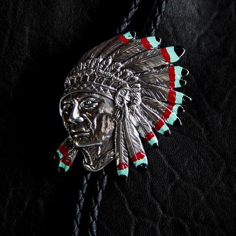 画像1: ウォーボンネット インディアン ボロタイ/Western Bolo Tie (1)