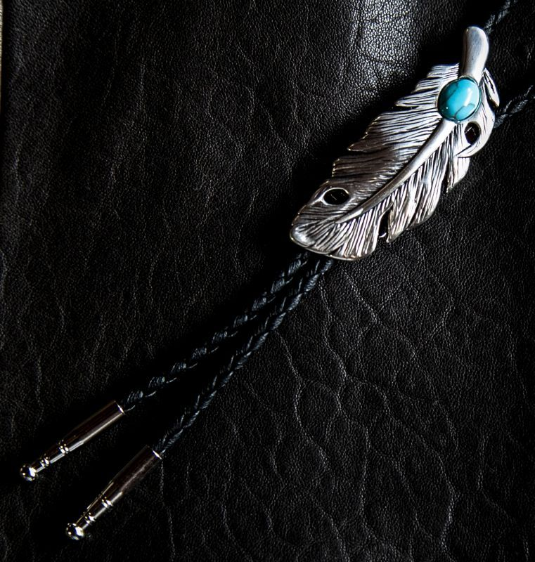 画像2: フェザー ボロタイ/Western Bolo Tie