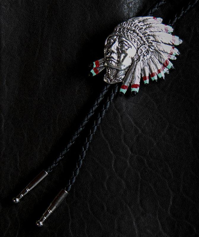 画像2: ウォーボンネット インディアン ボロタイ/Western Bolo Tie
