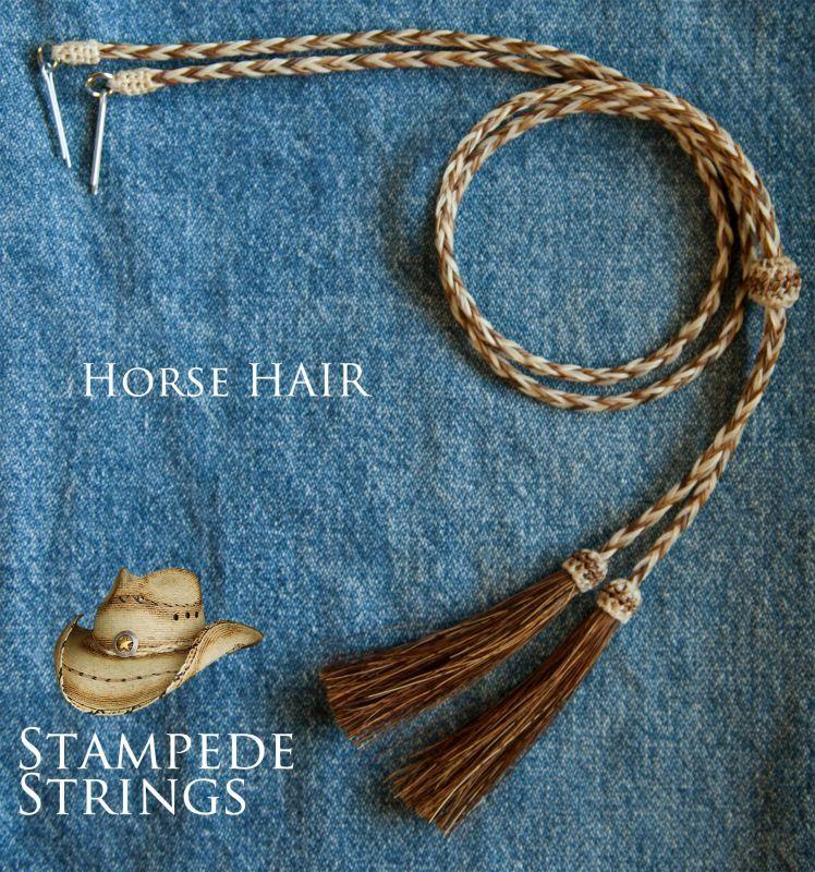 画像2: ホースヘアー スタンピード ストリングス ブラウン・ナチュラル(ハット用あごひも)/Horse Hair Stampede Strings