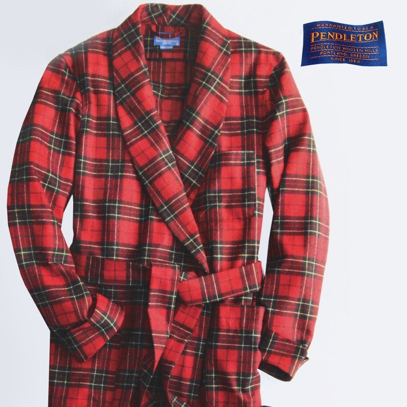 画像1: ペンドルトン ガウン/Pendleton Washable Whisper Wool Robe Brodie Tartan