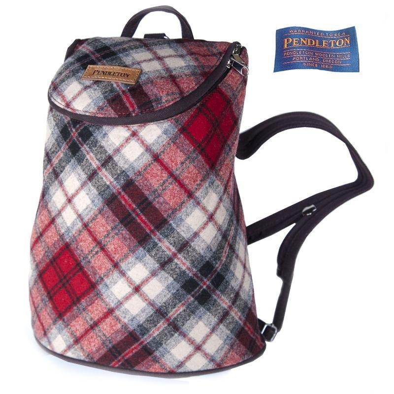 画像1: ペンドルトン バックパック(レッド・タンプラッド)/Pendleton Backpack(Red/Tan Plaid)