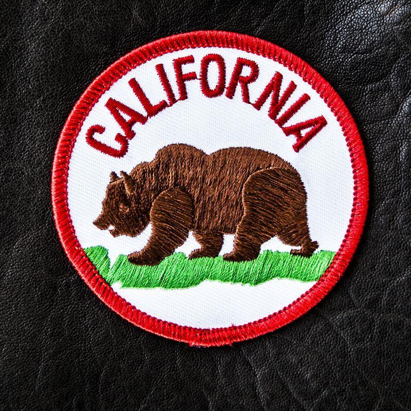 画像1: ワッペン カリフォルニア グリズリー ベアー/Patch California Grizzly
