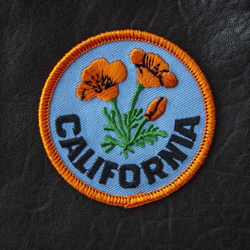 画像1: ワッペン フラワー カリフォルニア ポピー/Patch California