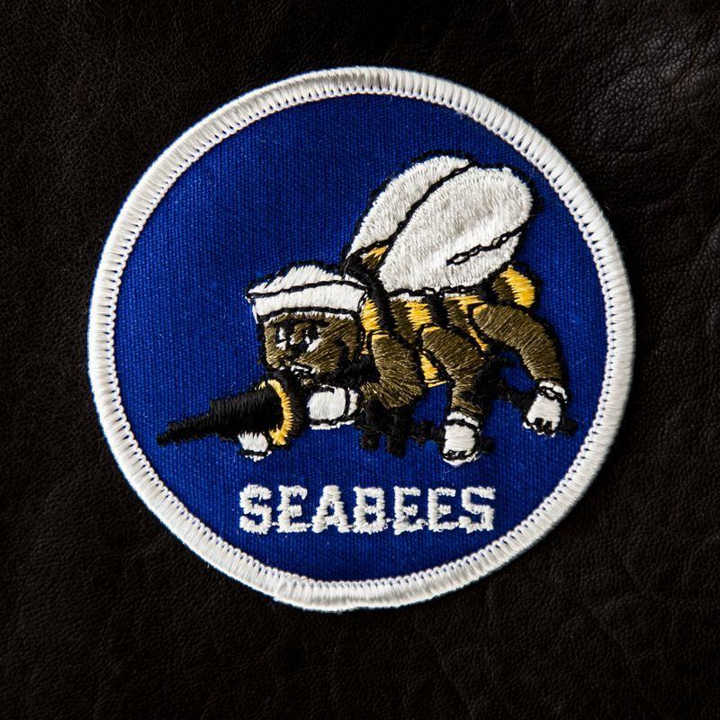 画像1: ワッペン シービーズ(ネイビー・シルバー)/Patch Seebees