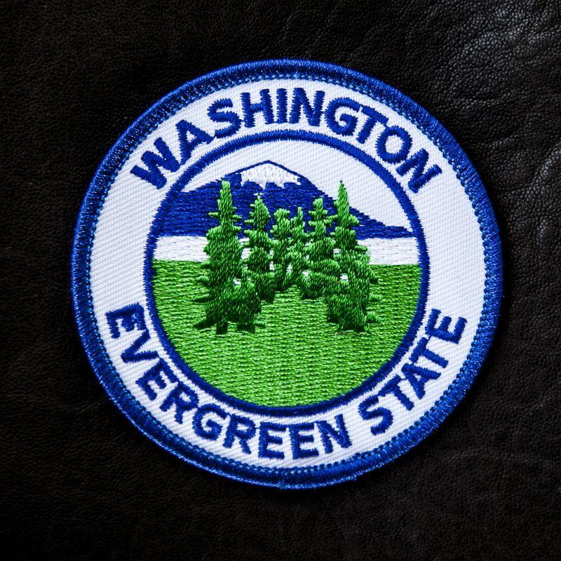 画像1: ワッペン エバーグリーンステート ワシントン州/Patch Evergreen State Washington