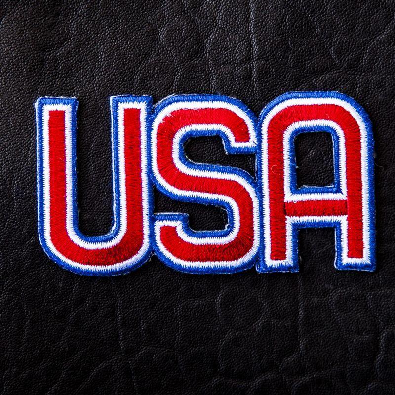 画像1: ワッペン U.S.A レター/Patch