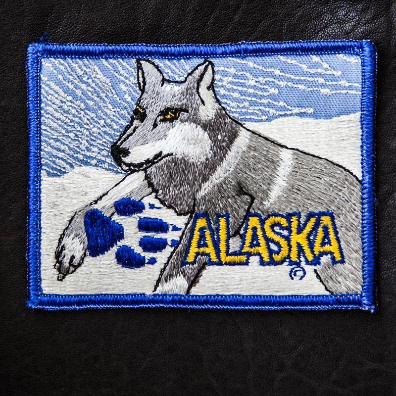 画像1: ワッペン アラスカ ウルフ/Patch Alaska