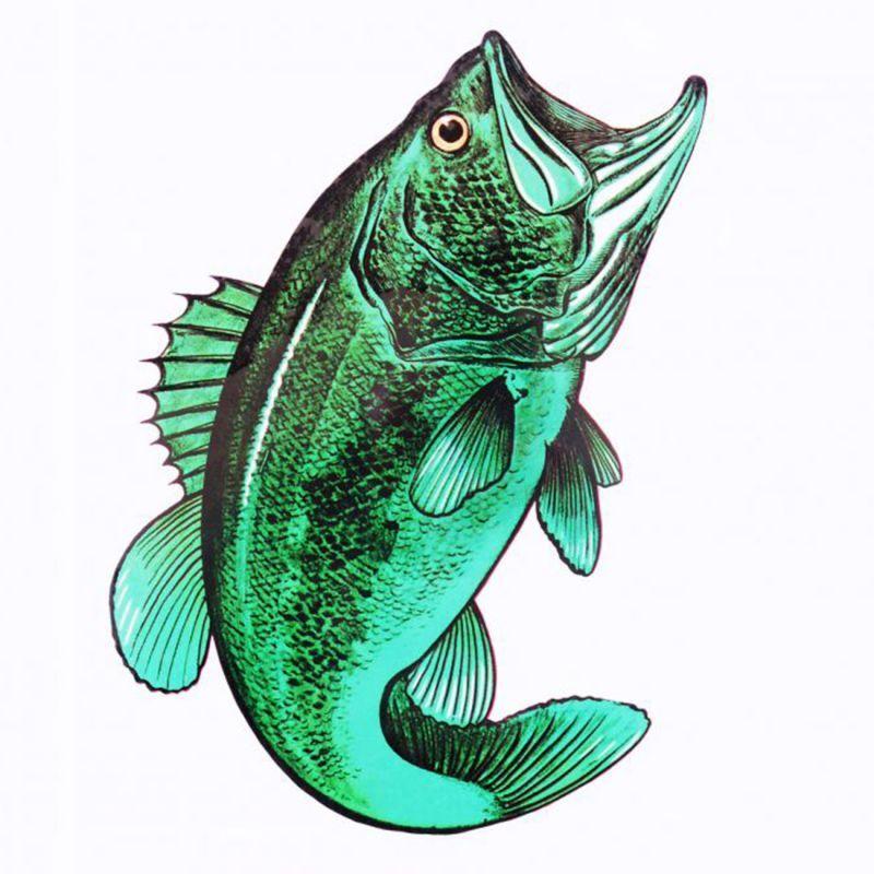 画像1: アウトドア仕様 防水ステッカー Bass (1)