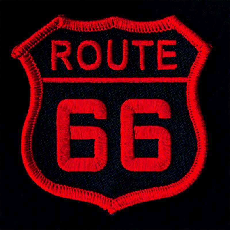 画像1: ワッペン ルート66 レッド・ブラック/Patch Route 66
