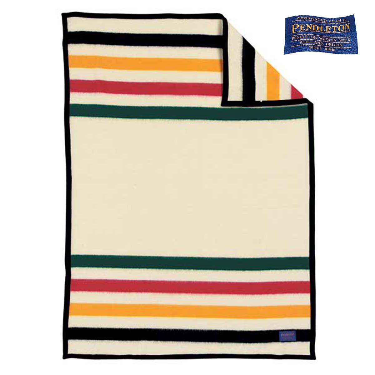 画像1: ペンドルトン ナショナルパーク クリブ ブランケット グレイシャー(ホワイト)/Pendleton National Park Crib Blankets Gracier(White) (1)