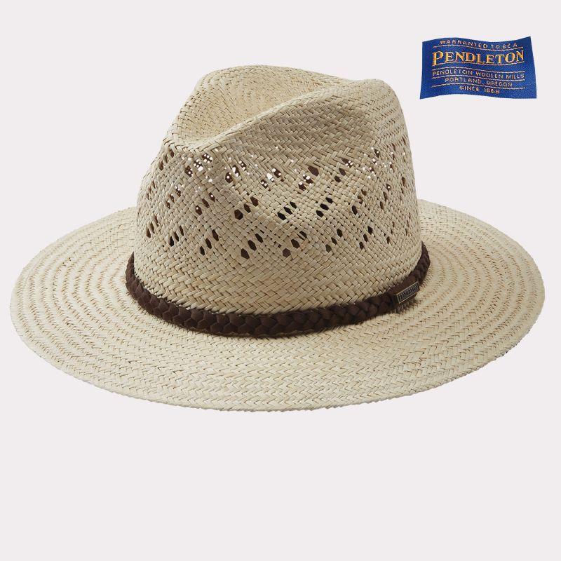 画像1: ペンドルトン パナマ ストローハット(ナチュラル)/Pendleton Panama Straw Hat(Natural)