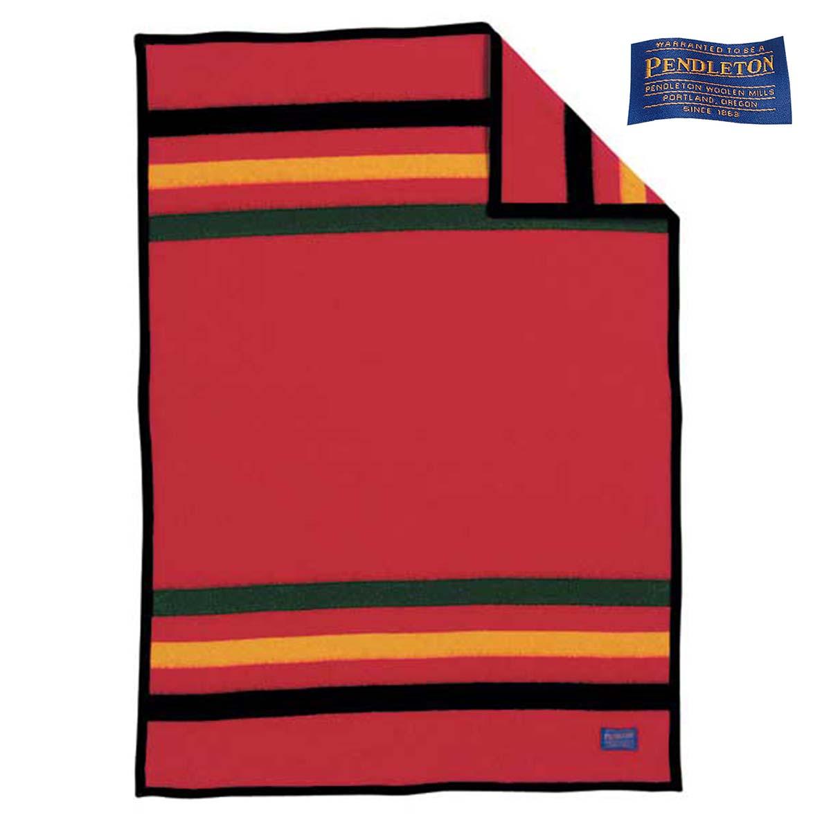 画像1: ペンドルトン ナショナルパーク クリブ ブランケット レーニア(レッド)/Pendleton National Park Crib Blankets Rainier(Red)