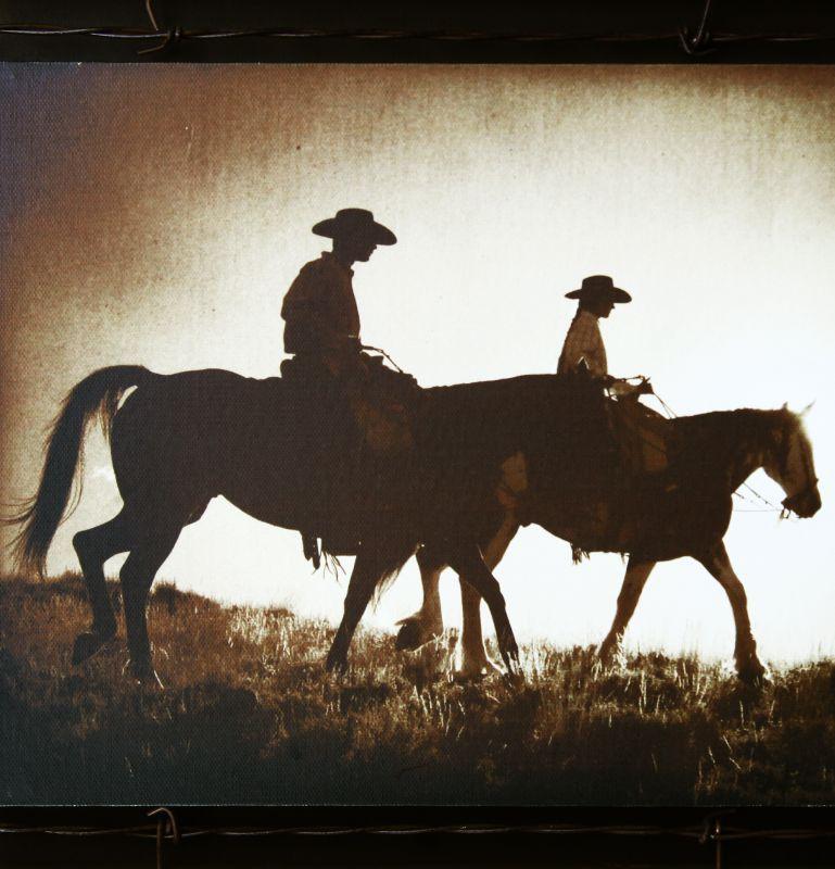 画像2: ウエスタン ホース バーンウッド ウォールアート