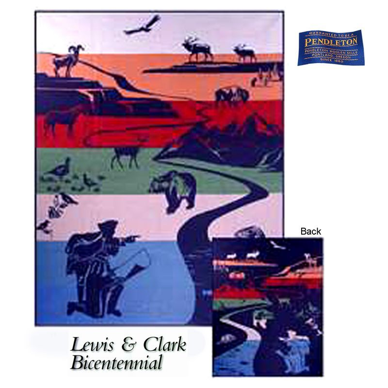 画像1: ペンドルトン ブランケット ルイス&クラーク探検隊 200年特別記念 Joined In Discovery/Pendleton Blanket Lewis&Clark Bicentennial (1)
