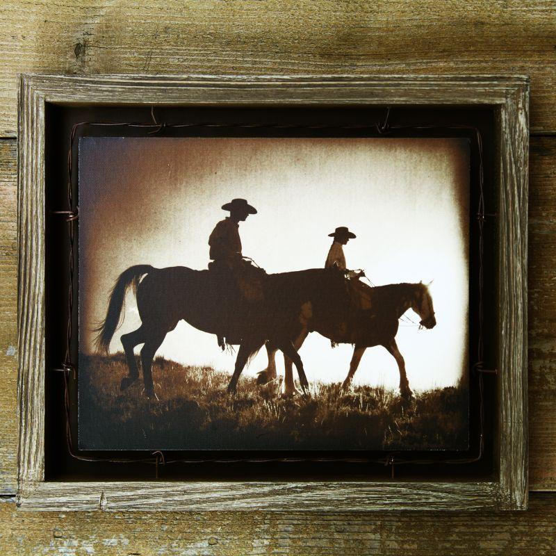 画像1: ウエスタン ホース バーンウッド ウォールアート