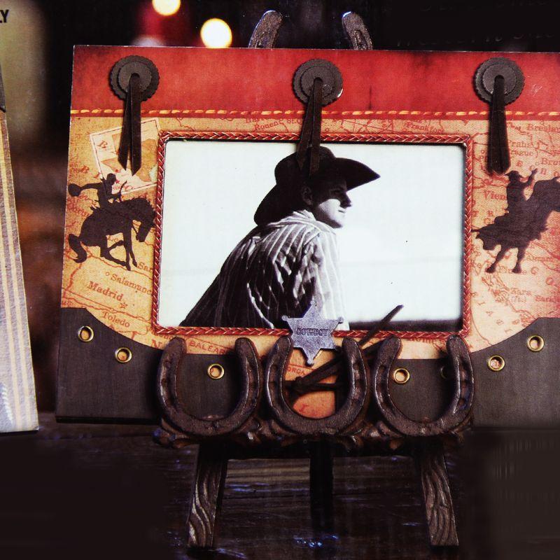 画像2: ウエスタン ホースシュー・蹄鉄 イーゼル/Western Horseshoe Easel