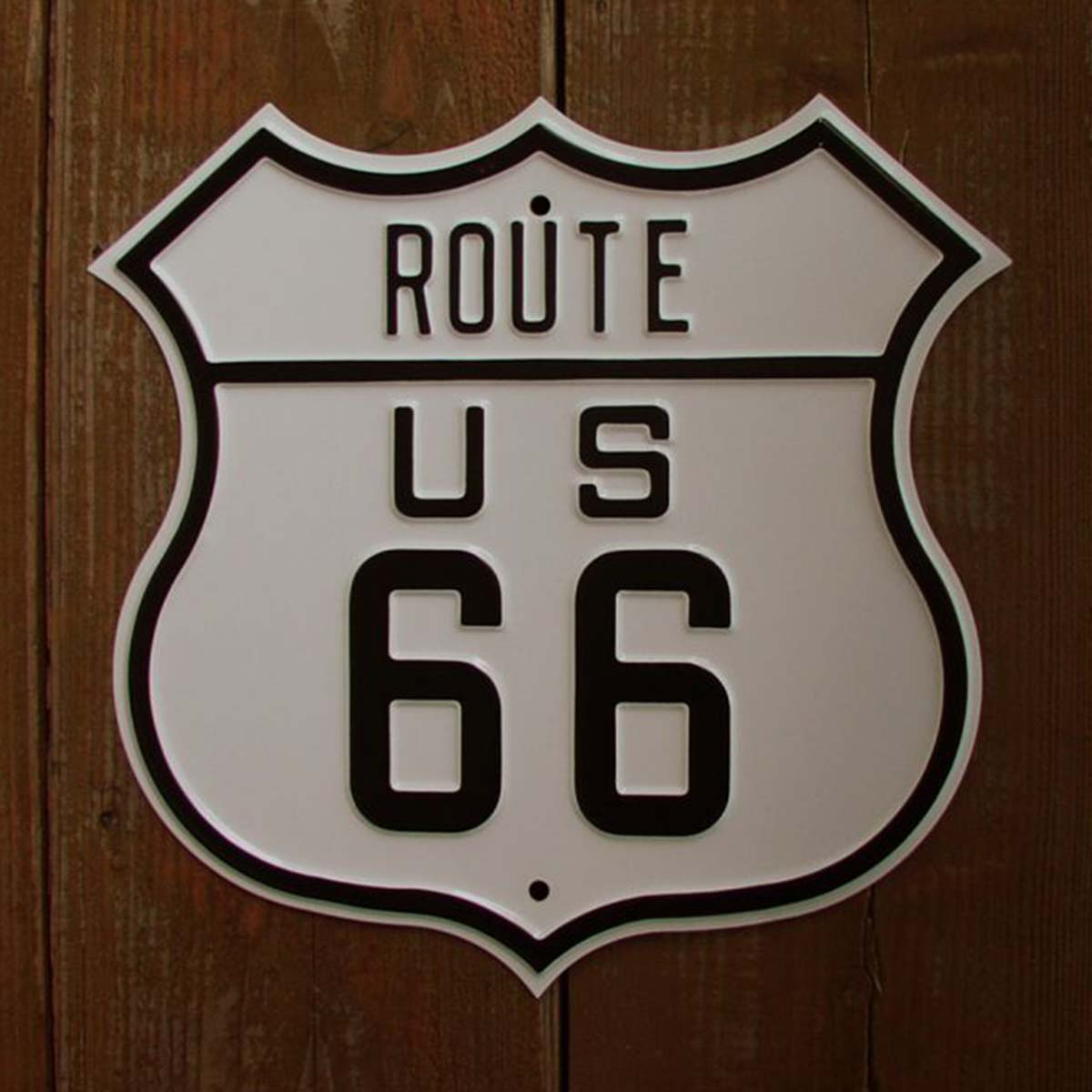 画像1: US ルート66 Route 66 プレーン ストリート サイン (1)