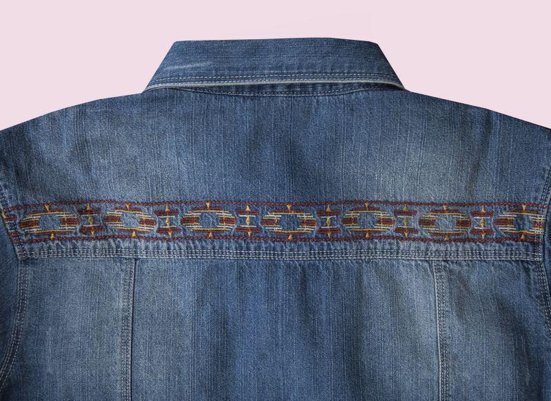 画像3: ラングラー ウエスタン 刺繍 デニム シャツ(長袖/レディース)/Wrangler Long Sleeve Western Denim Shirt(Women's)