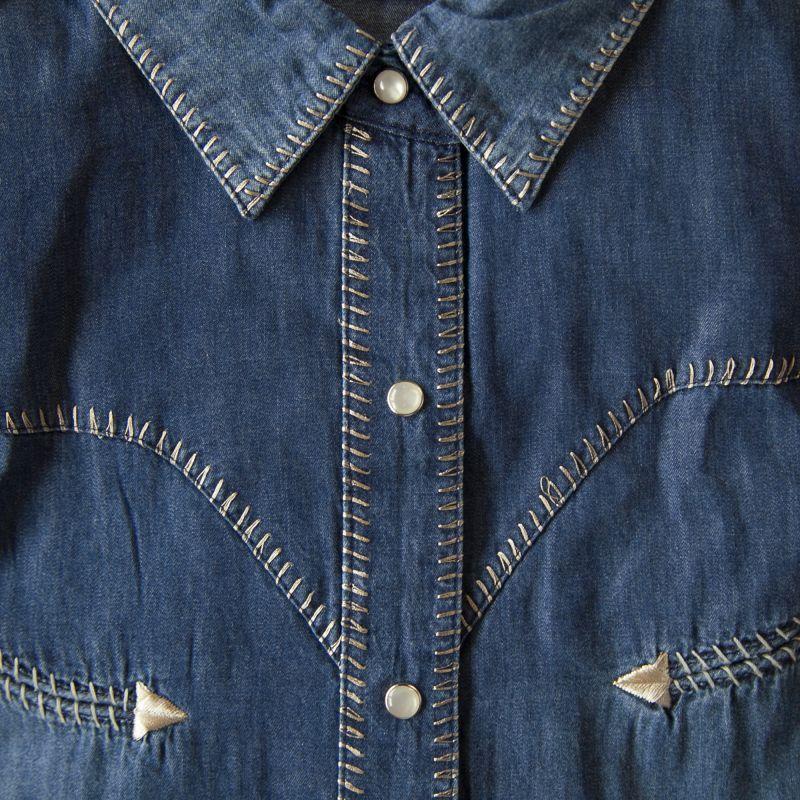 画像2: スカリー ウエスタン ウイップステッチ デニム シャツ(長袖/デニム)/Scully Long Sleeve Western Shirt(Women's)