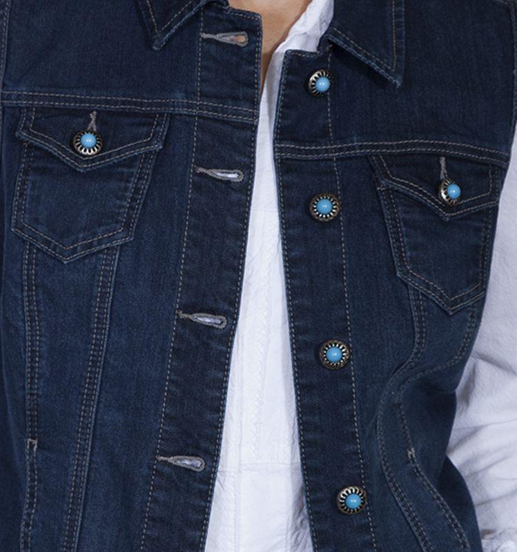 画像2: スカリー デニム ベスト(デニム・ターコイズ)S/Scully Denim Vest(Women's)