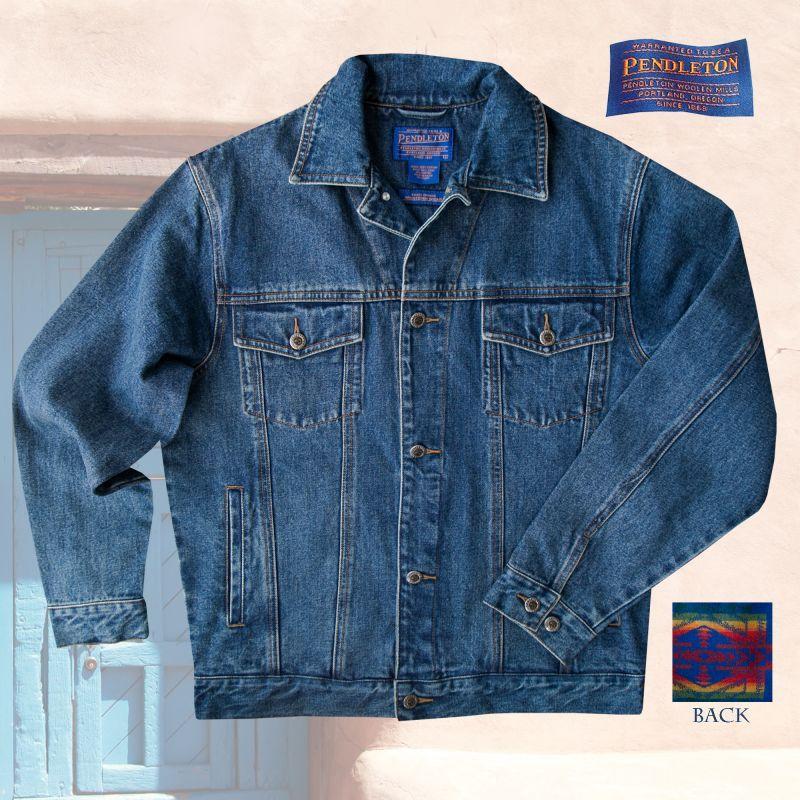 画像1: ペンドルトン サウスウエスト デニム ジャケット/Pendleton Wool Denim Jacket