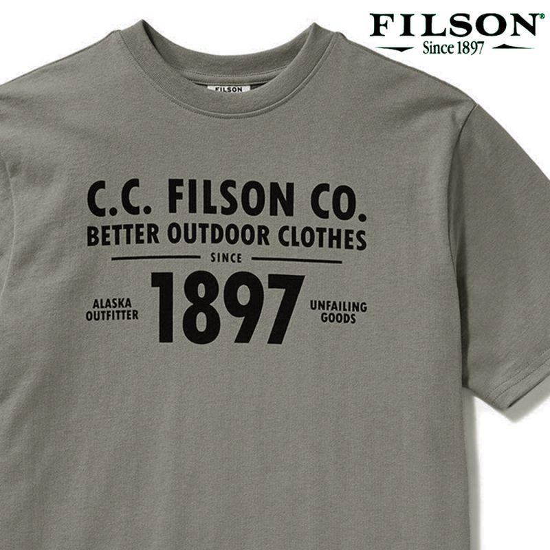 画像1: フィルソン 半袖 Tシャツ(スティープルグレー)/Filson S/S Outfitter Graphic T-shirt(Steeple Grey)