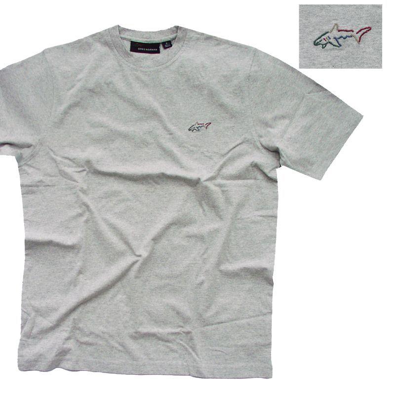 画像1: グレッグノーマン フィッシュ 半袖 Tシャツ(ライトグレー)/Greg Norman T-shirt