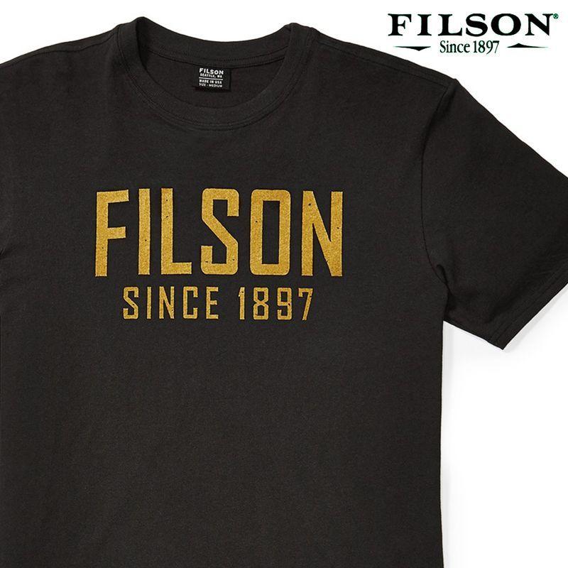 画像1: フィルソン 半袖 Tシャツ(フェイデッドブラック)XS/Filson S/S Outfitter Graphic T-shirt(Faded Black)