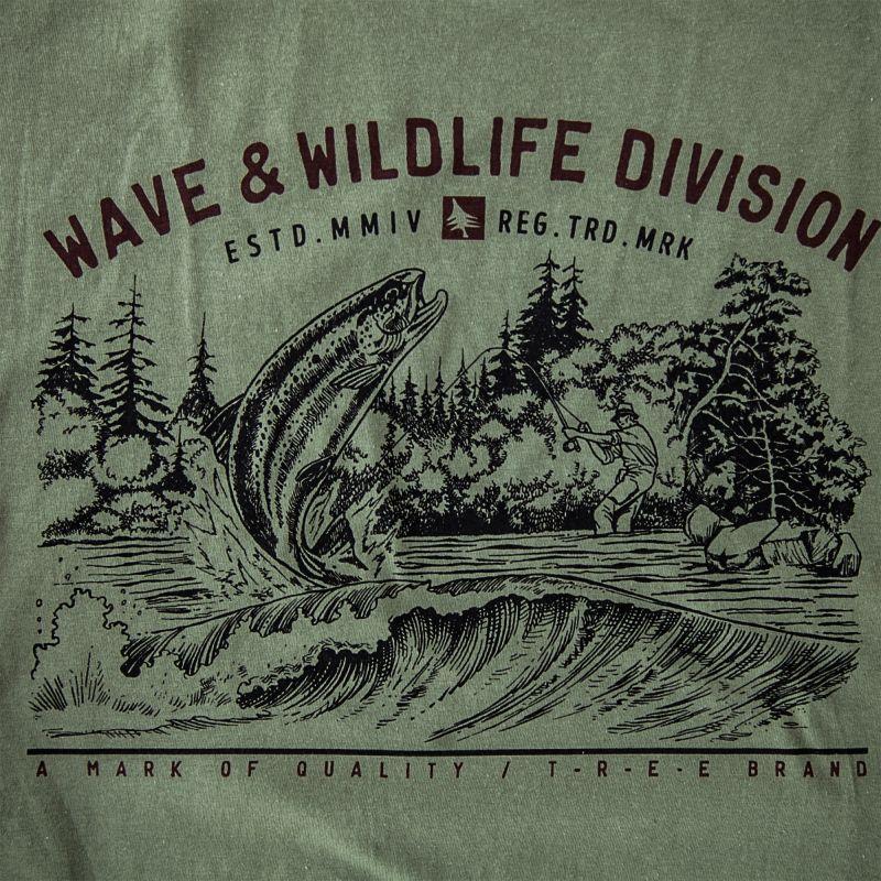画像2: フィッシング オーガニックコットン 半袖 Tシャツ(ミリタリー)M/Bait T-shirt (Military)