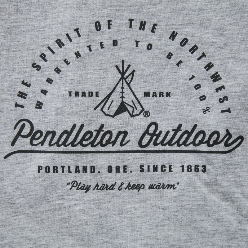 画像2: ペンドルトン アウトドア 半袖 Tシャツ ティーピー(グレー)L/Pendleton SS T-shirt Teepee(Grey)