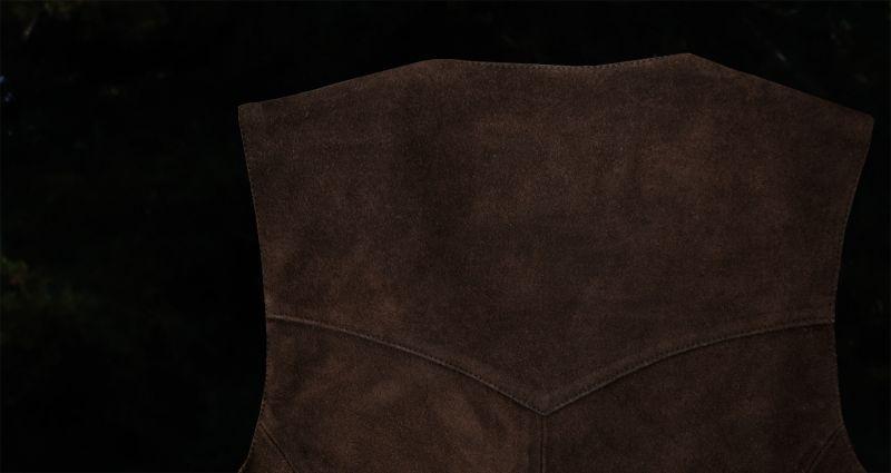 画像3: スカリー スナップフロント カーフスエード ベスト(ブラウン)/Scully Calf Suede Leather Vest(Brown)