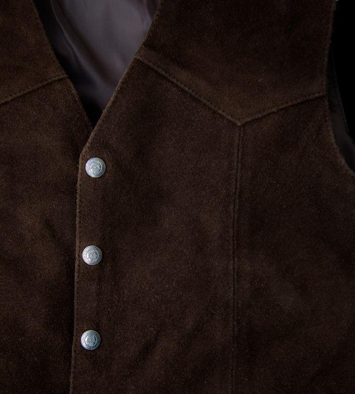 画像2: スカリー スナップフロント カーフスエード ベスト(ブラウン)/Scully Calf Suede Leather Vest(Brown)