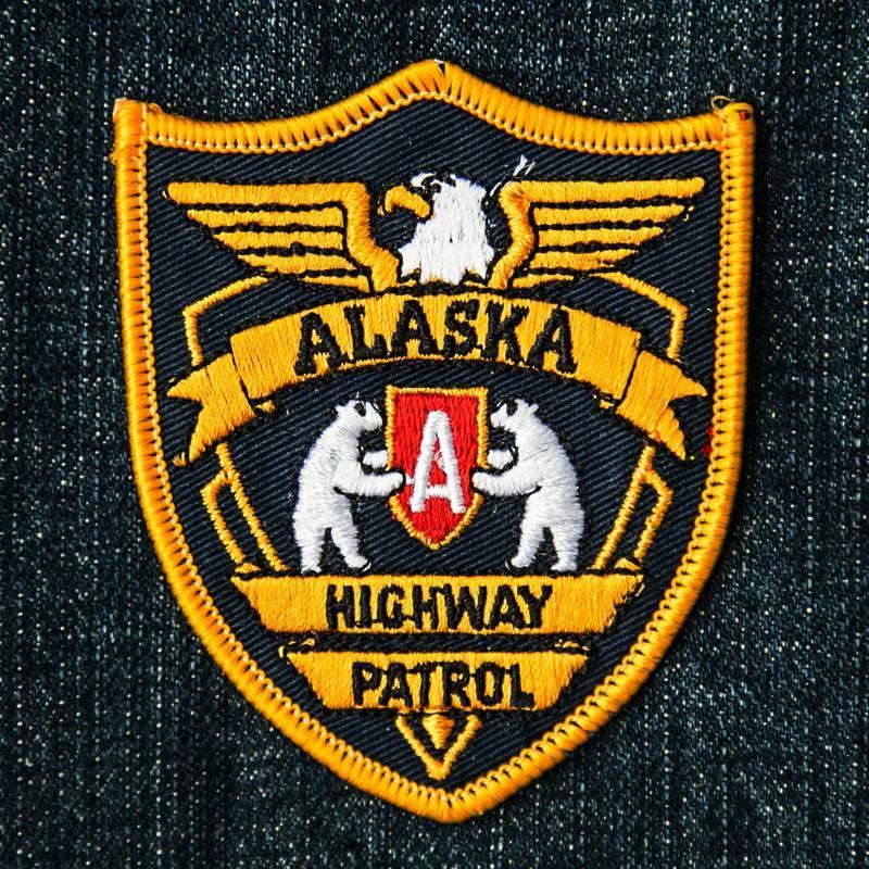 画像1: ワッペン アラスカ ハイウェイ パトロール/Patch Alaska