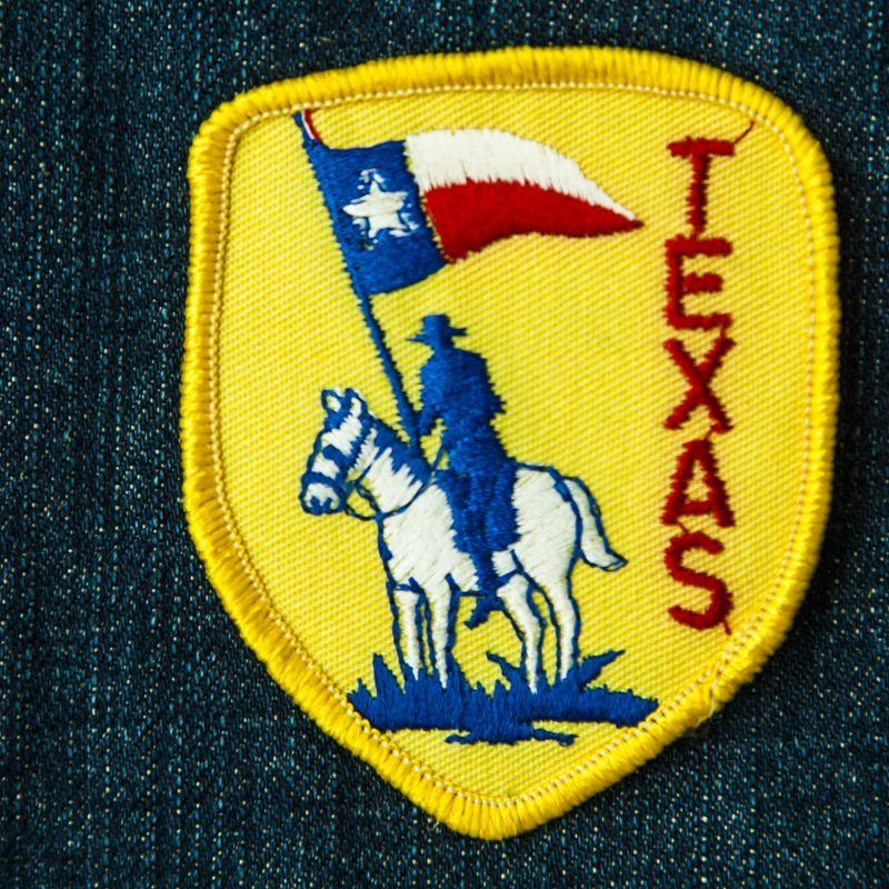 画像1: ワッペン テキサス レンジャー オン ホース/Patch Texas Ranger