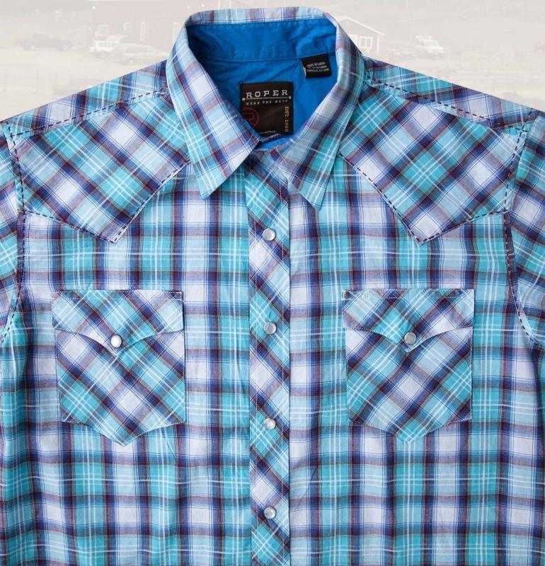 画像2: ローパー ウエスタンシャツ(ターコイズ・ホワイト・ブラウン/半袖)/Roper Short Sleeve Western Shirt