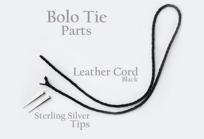 画像3: ボロタイ用パーツ レザーコード&スターリングシルバーチップス/Bolo Tie Parts Leather Cord & Sterling Silver Chips