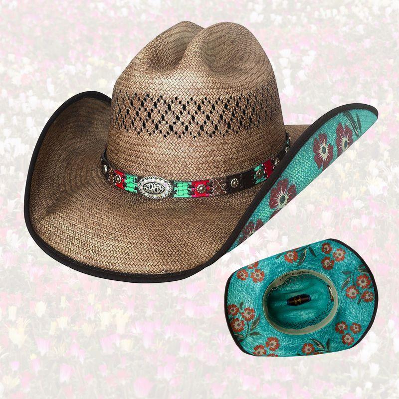 画像1: フローラル ストローハット(ピーカン)M/Straw Hat (Pecan)