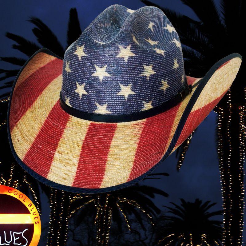 画像1: ブルハイド ウエスタン ストローハット アメリカンフラッグ スタースパングル 20X/Bullhide Star Spangled 20X American Flag Cowboy Hat