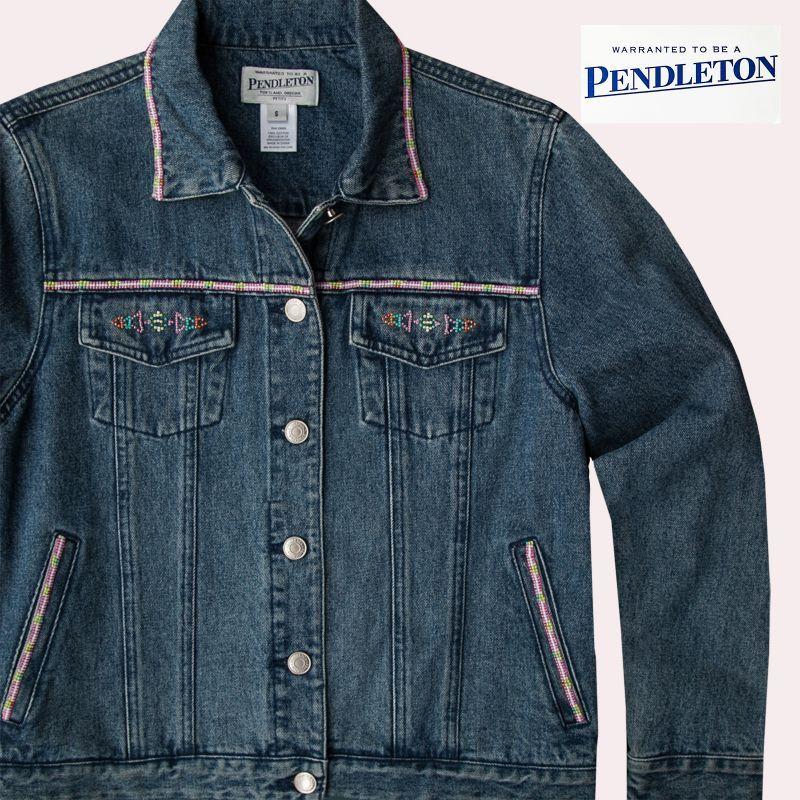 画像1: ペンドルトン ビーズ ジーンズ ジャケット/Pendleton Beaded Jean Jacket