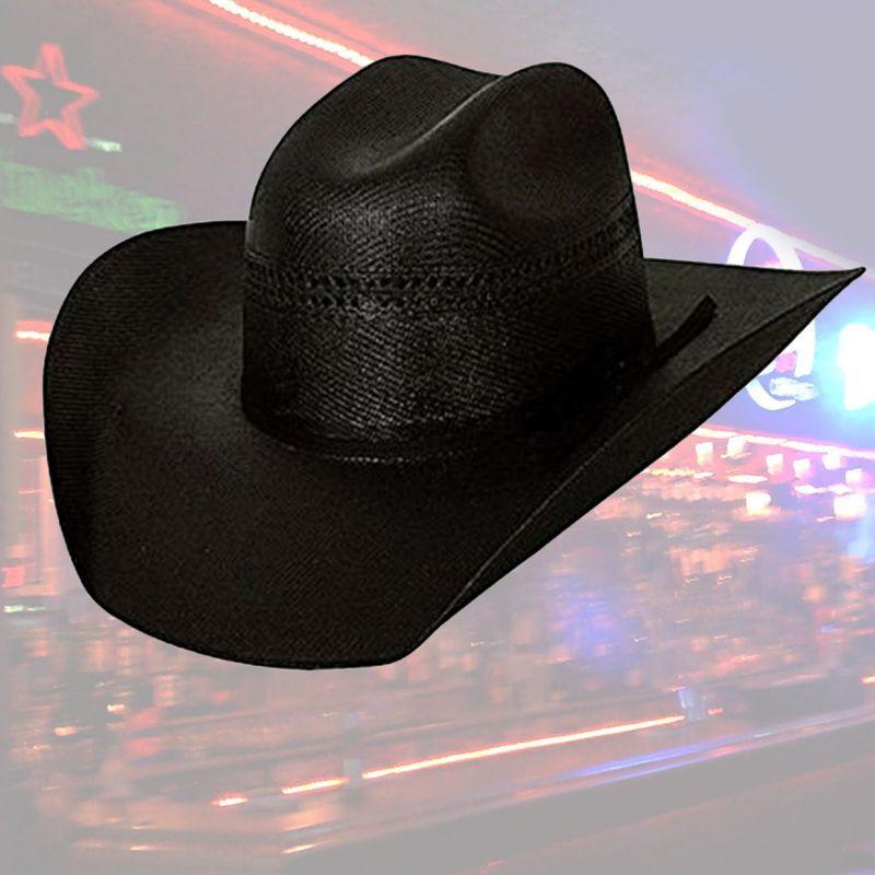 画像1: ウエスタン ストローハット(オールドウエスト・ブラック)/Western Straw Hat Black