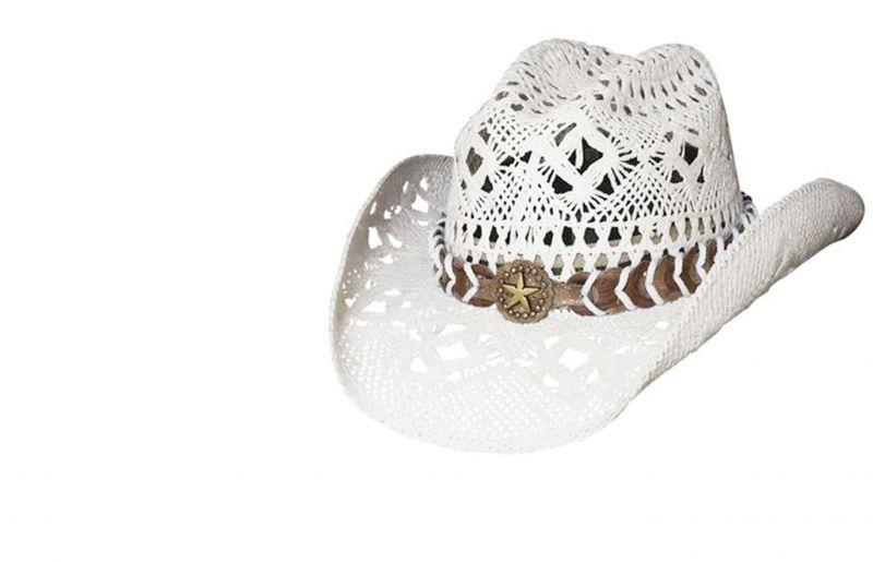 画像2: ブルハイド ウエスタン ストローハット ノーティガール(スター・ホワイト)/Bullhide Western Straw Hat Naughty Girl(White)
