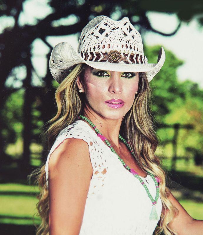 画像3: ブルハイド ウエスタン ストローハット ノーティガール(スター・ホワイト)/Bullhide Western Straw Hat Naughty Girl(White)