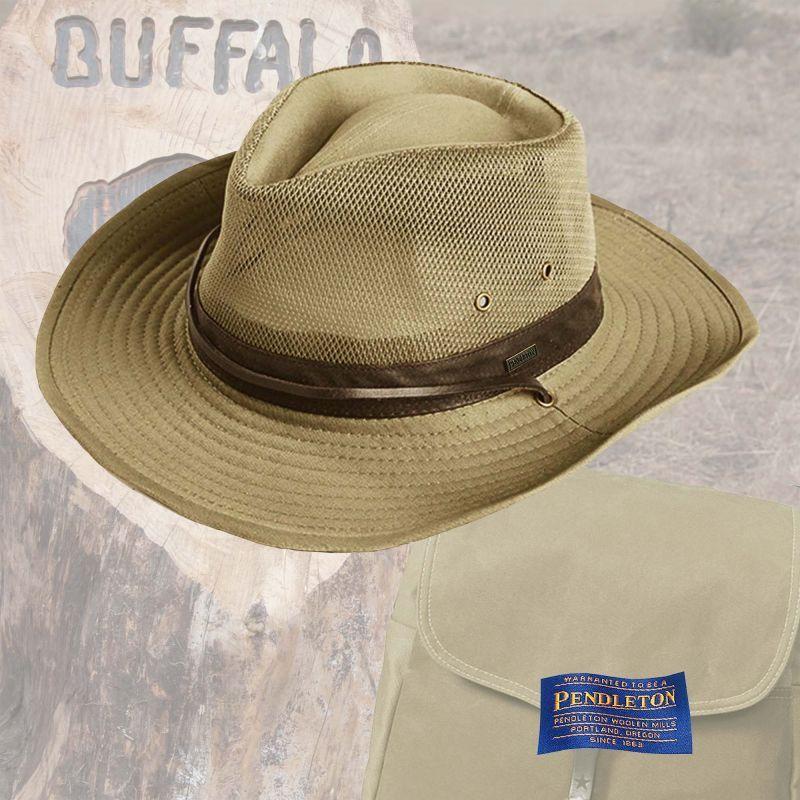 画像1: ペンドルトン シェイパブルブリム ハイカー ハット(カーキ)/Pendleton Shapable Hat(Khaki)